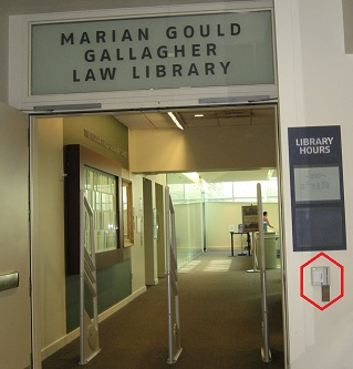 Entrance to the Gallagher Law Library