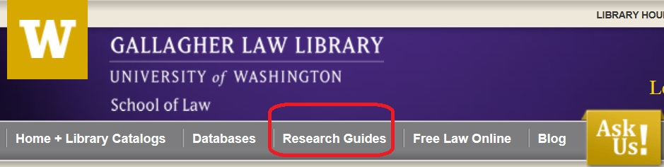 Gallagher Law Library Research Guides